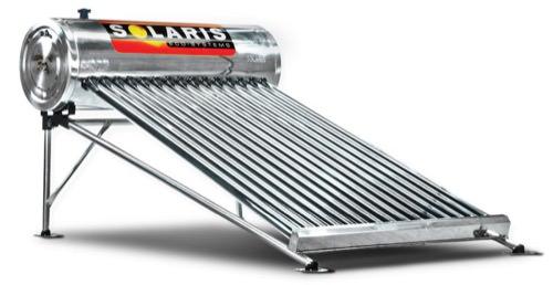 Imagen de un boiler solar marca Solaris de 15 tubos de calentador