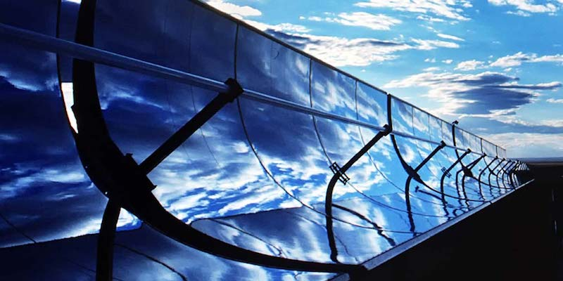 Imagen de un colector solar de granja