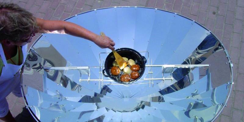 Imagen de una estufa solar