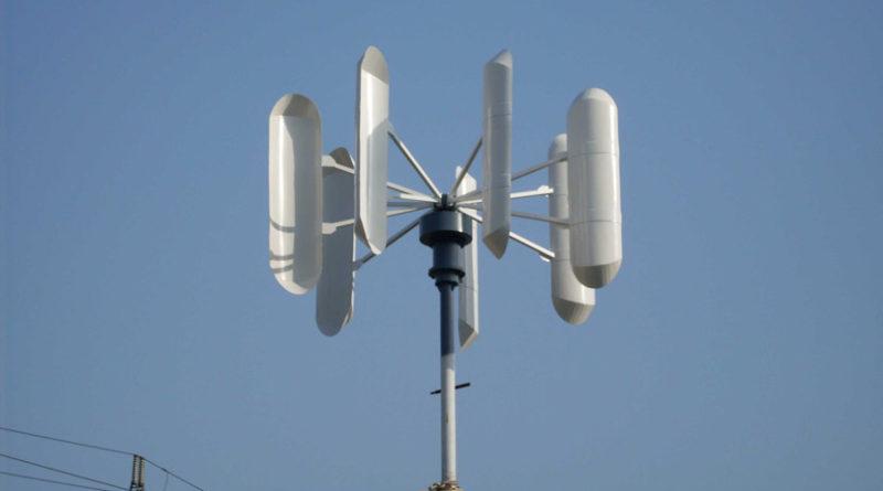 Fotografia de un Aerogenerador vertical Giromill