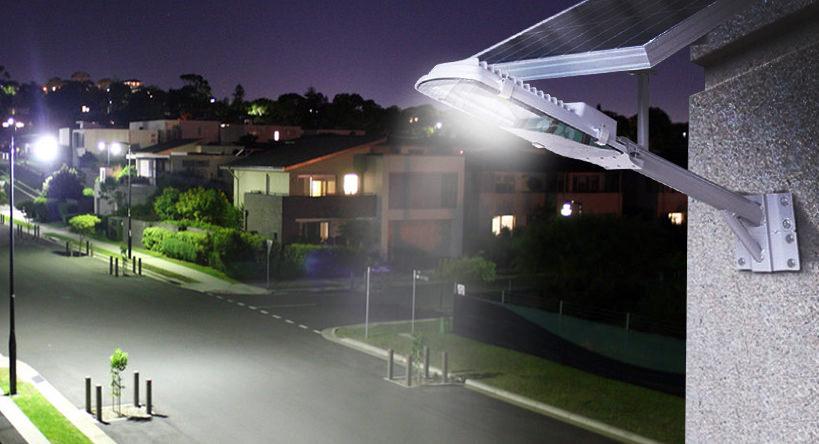Imagen de muestra de una lampara solar publica